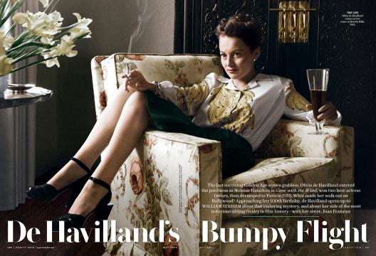 De Havilland's Bumpy Flight - May | Vanity Fair