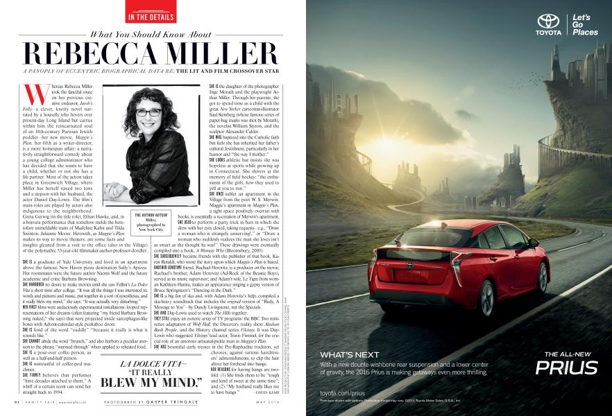 What You Should Know About REBECCA MILLER