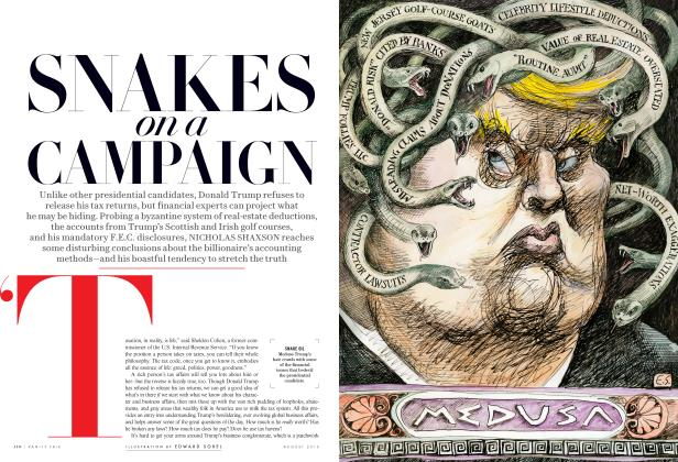 Article Preview: SNAKES on a CAMPAIGN, August 2016 2016 | Vanity Fair