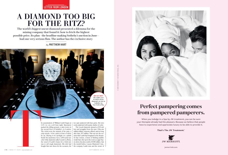 A DIAMOND TOO BIG FOR THE RITZ?