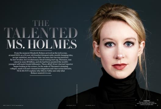 THE TALENTED MS. HOLMES - October | Vanity Fair