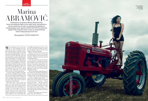 Article Preview: Marina ABRAMOVIĆ, November 2016 2016 | Vanity Fair