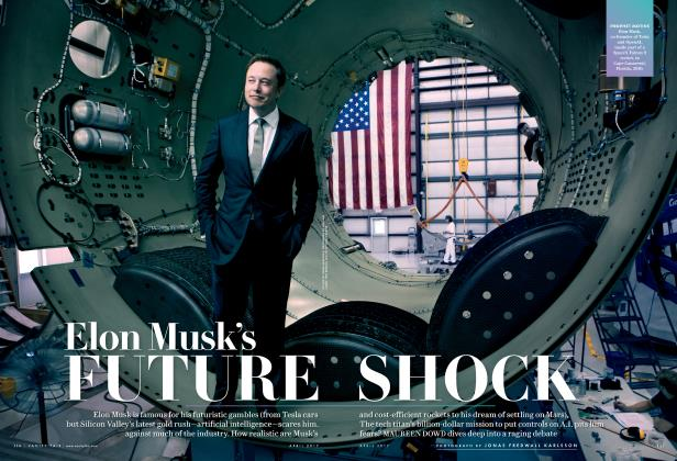 Article Preview: Elon Musk's FUTURE SHOCK, April 2017 2017 | Vanity Fair