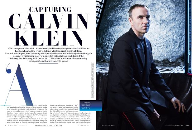Article Preview: CAPTURING CALVIN KLEIN, September 2017 | Vanity Fair