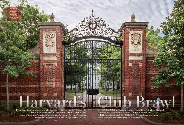 Article Preview: Harvard's Club Brawl, September 2017 | Vanity Fair