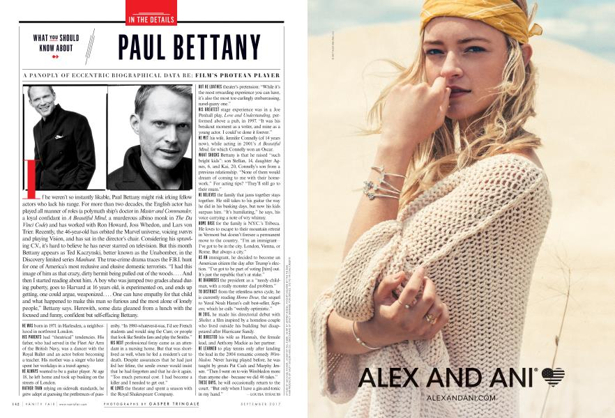 WHAT YOU SHOULD KNOW ABOUT PAUL BETTANY