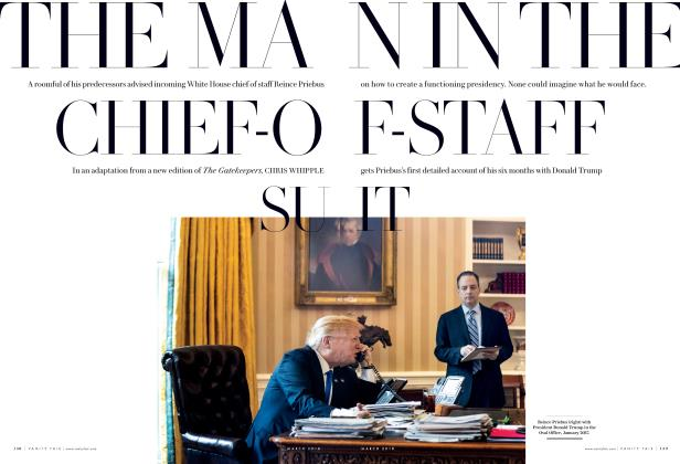 Article Preview: THE MAN IN THE CHIEF-OF-STAFF SUIT, March 2018 2018 | Vanity Fair