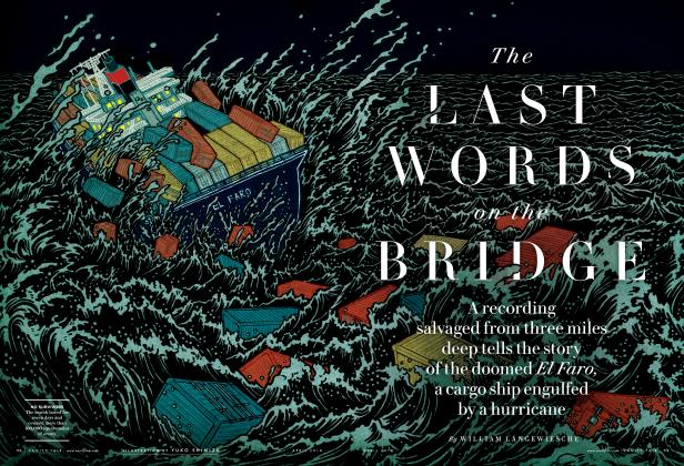 Article Preview: THE LAST WORDS ON THE BRIDGE, April 2018 2018 | Vanity Fair