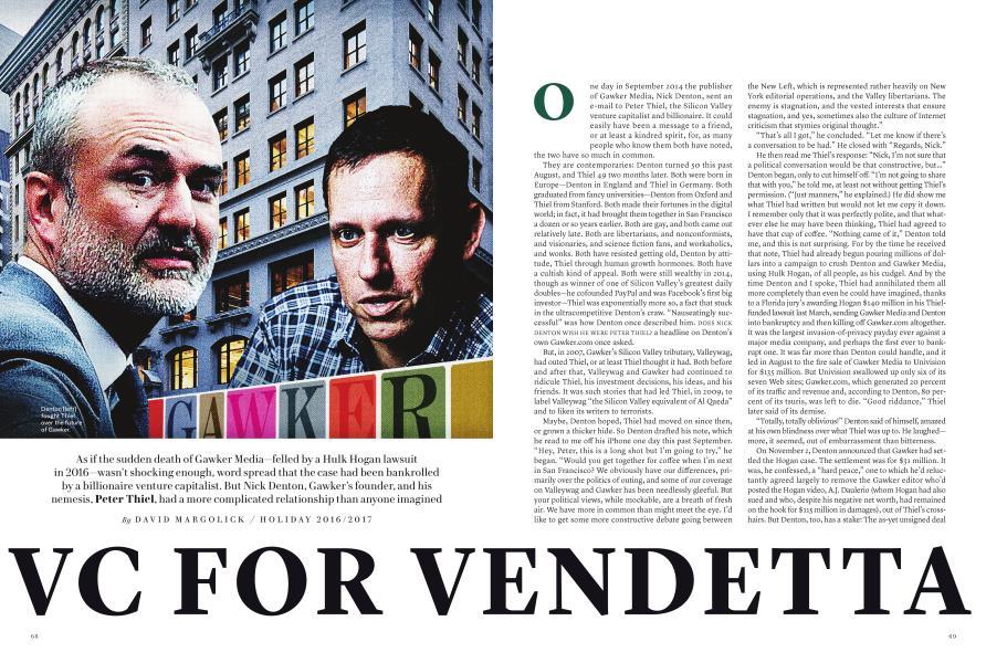 VC FOR VENDETTA