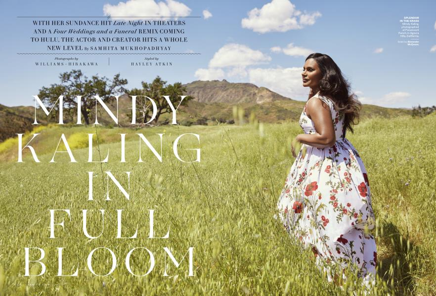 MINDY KALING IN FULL BLOOM